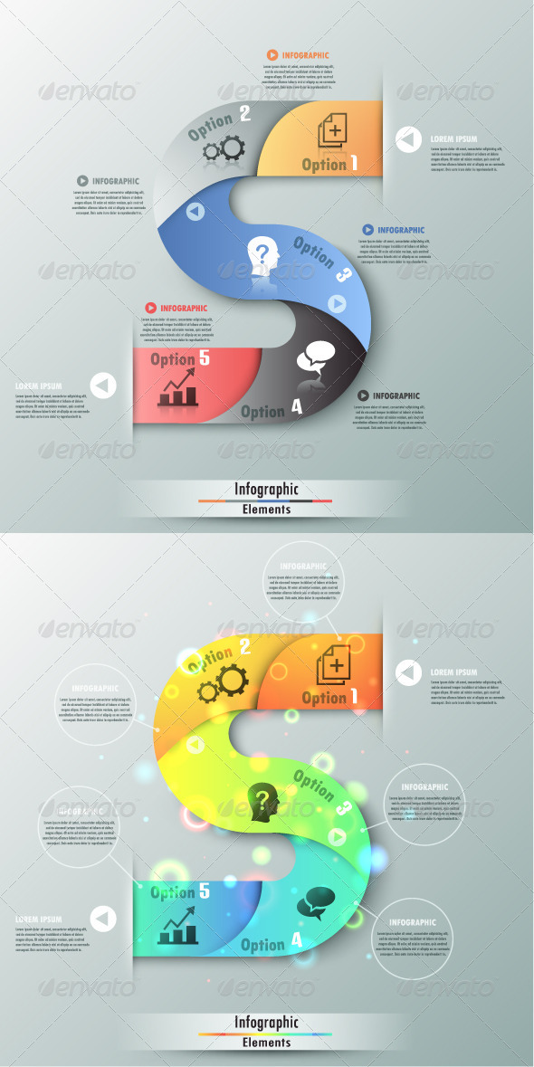 GraphicRiver Modern Infographic Options Banner Two versions 7608293