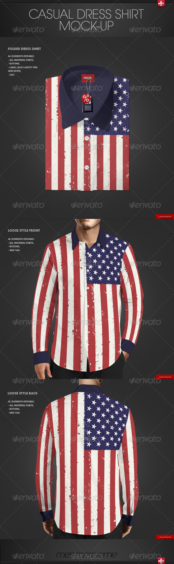 GraphicRiver Casual Dress Shirt Mock-up 7608375