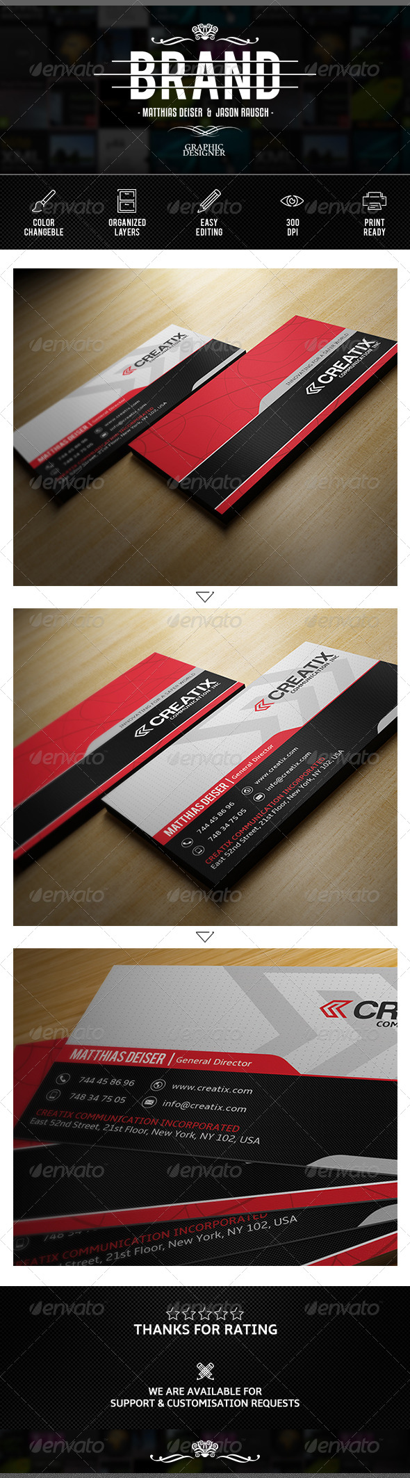 GraphicRiver Corporate Business Card 7609058