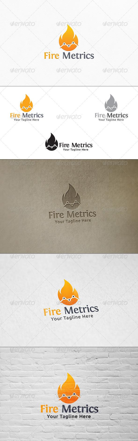 GraphicRiver Fire Metrics Logo Template 7609062