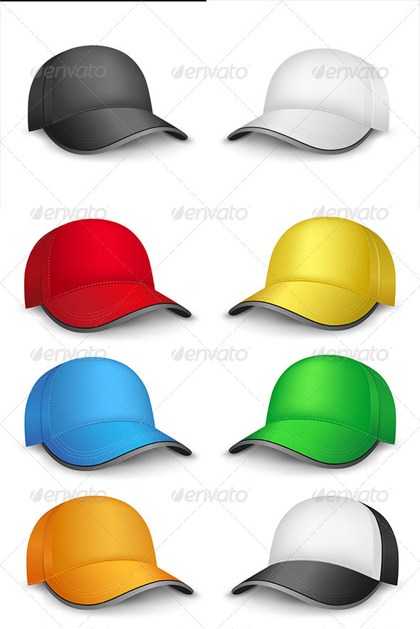 GraphicRiver Multicolored Caps 7609327