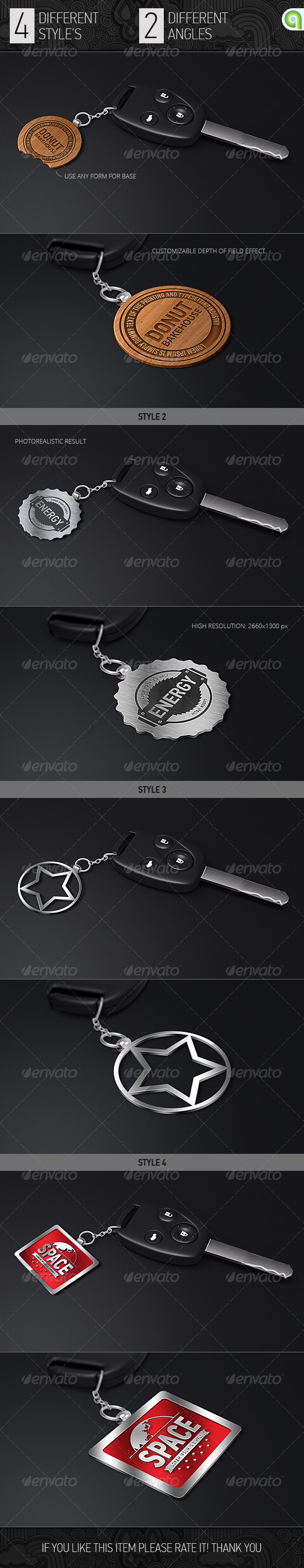 GraphicRiver Logo Mock-Up Key Trinket 7609738