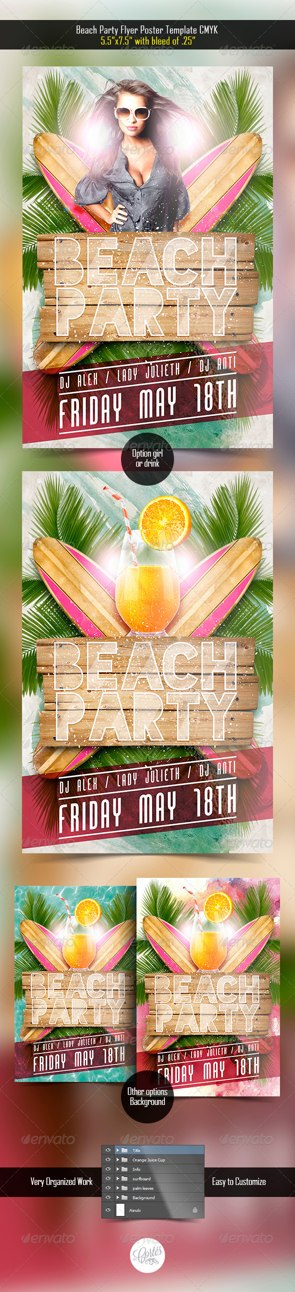 GraphicRiver Beach Party Flyer 7609759