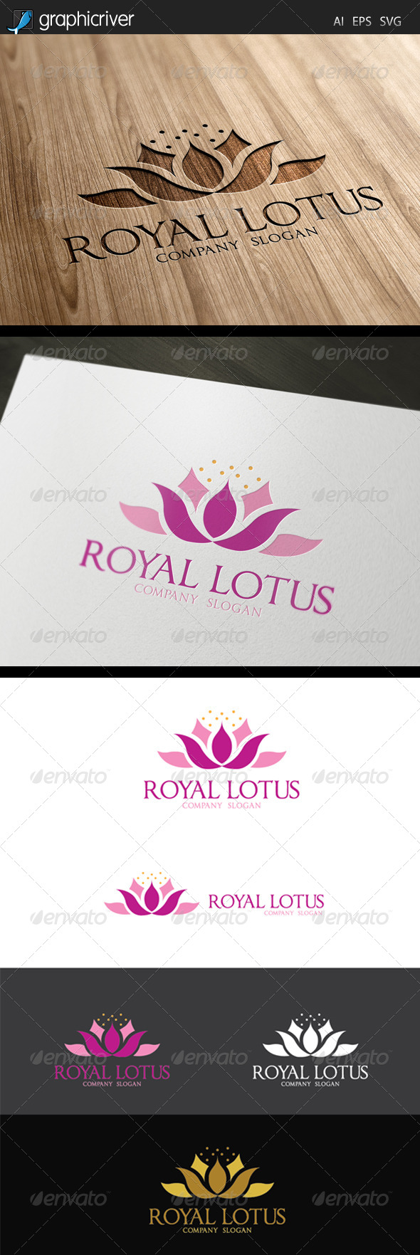 GraphicRiver Loyal Lotus Logo 7609791