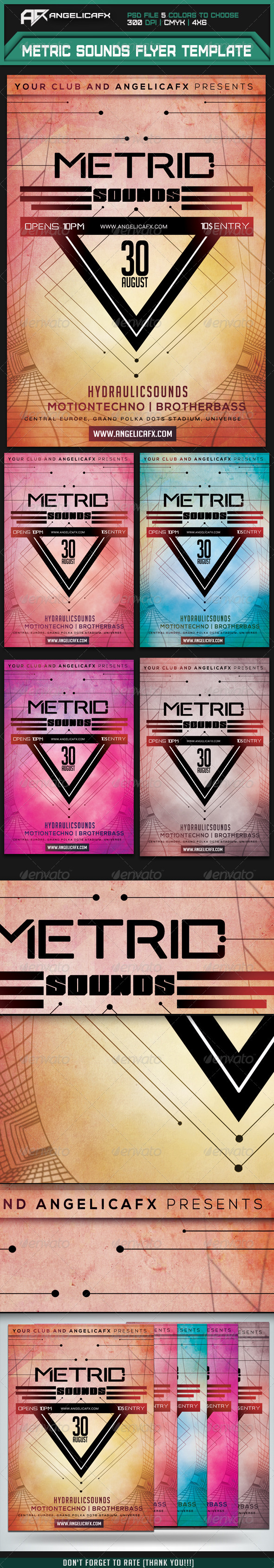GraphicRiver Metric Sounds Flyer Template 7609817
