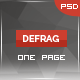 Defrag - One Page Personal Portfolio Templates - ThemeForest Item for Sale
