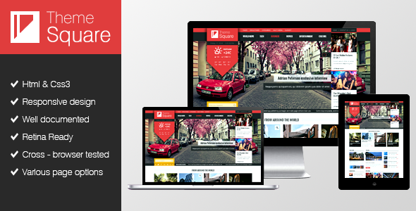 Square Magazine WordPress theme