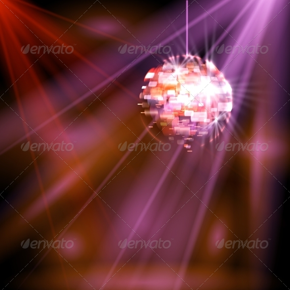 GraphicRiver Party Lights Disco Ball 7610607