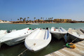Boats standing at the pier channel of El Gouna - PhotoDune Item for Sale