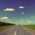 road under sky - vintage retro style - PhotoDune Item for Sale