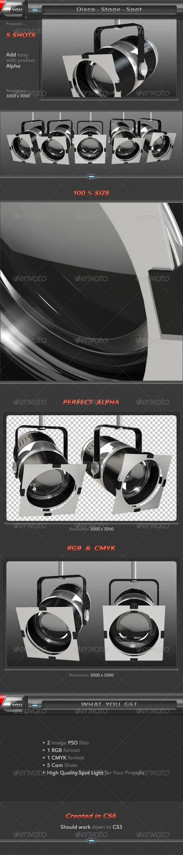 3D Disco Light Spot - Objects 3D Renders