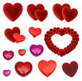 set of many isolated red hearts - PhotoDune Item for Sale