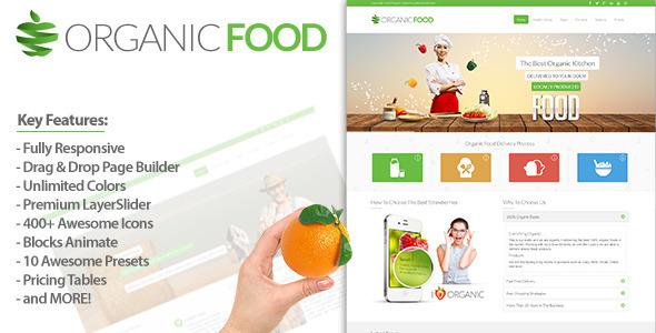 ThemeForest Organic Food Responsive Drupal Theme 7610932