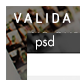 Valida PSD Template - ThemeForest Item for Sale