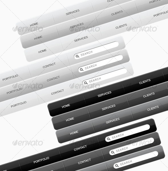 GraphicRiver Stylish Menu For CSS Sprites 32362