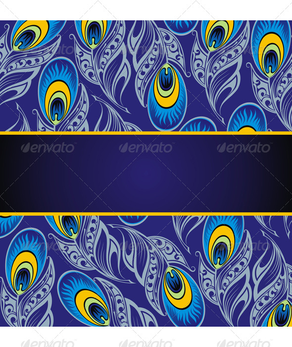 GraphicRiver Peacock Background 7611089