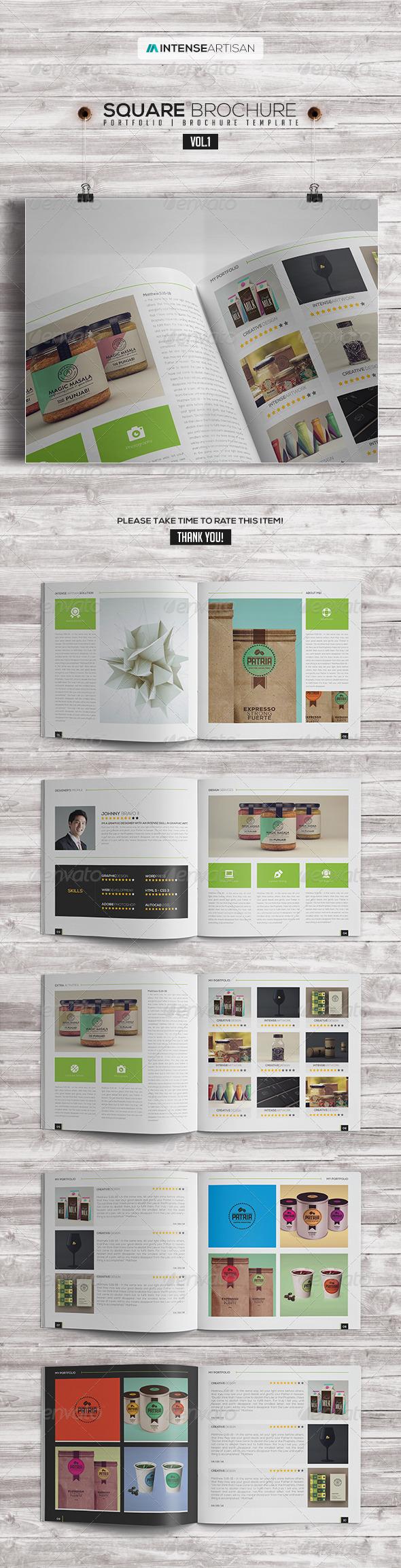 Square Brochure - Portfolio Vol.1 - Portfolio Brochures