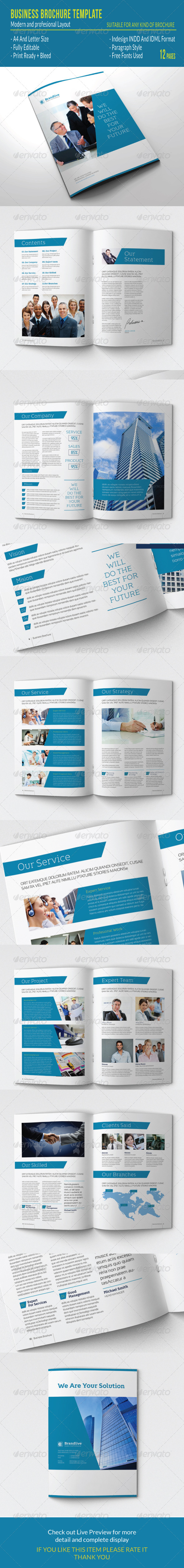 GraphicRiver Business Brochure Template 7611315