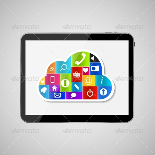 GraphicRiver Cloud Computing Concept Illustration 7611440