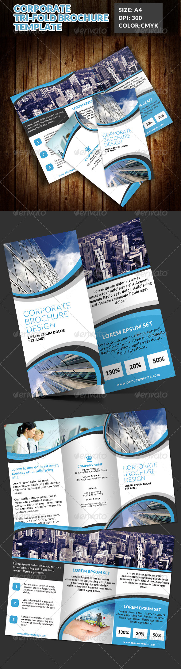 GraphicRiver Corporate Tri-Fold Brochures Template 5 7611674