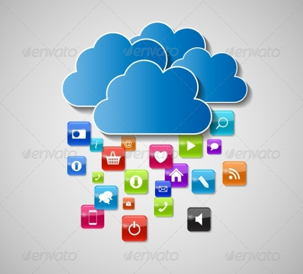 GraphicRiver Cloud Computing Concept Illustration 7611677