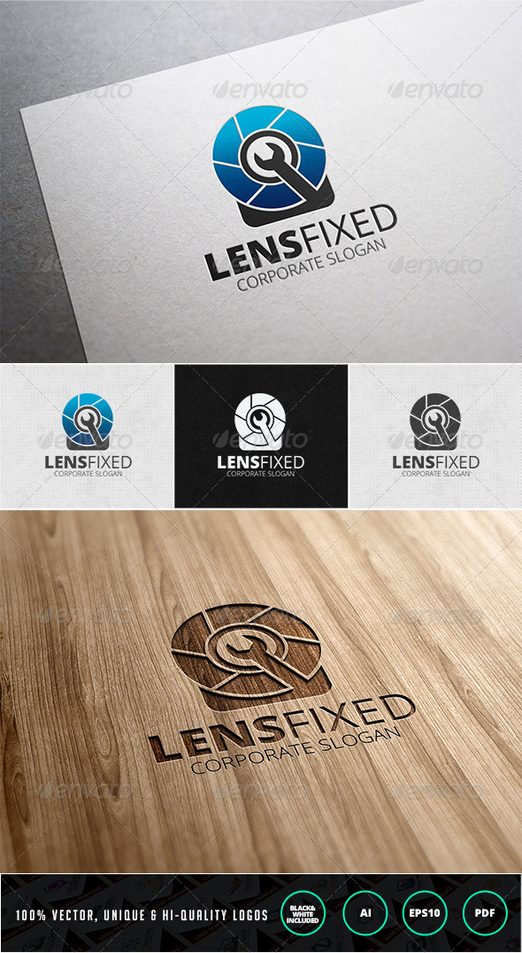 GraphicRiver Lens Fixed Logo Template 7612097