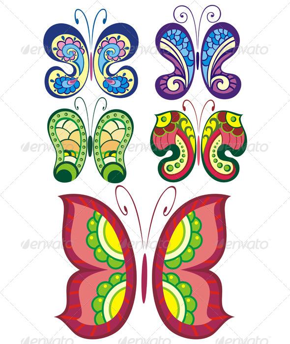 GraphicRiver Butterflies Design 7612341