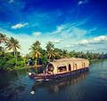 Houseboat on Kerala backwaters, India - PhotoDune Item for Sale