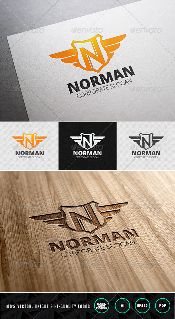 GraphicRiver Norman Letter N Logo Template 7612398