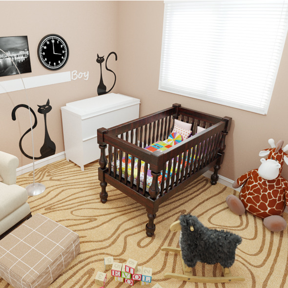 Baby Boy Nursery - 3DOcean Item for Sale