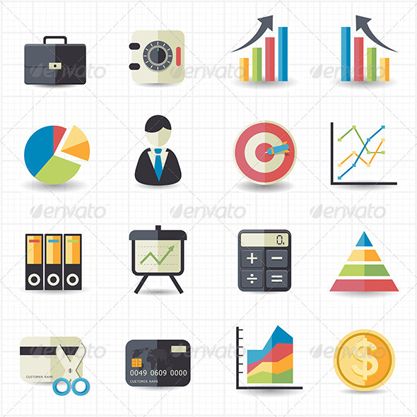 GraphicRiver Business Finance Money Graph Chart Icons 7612682