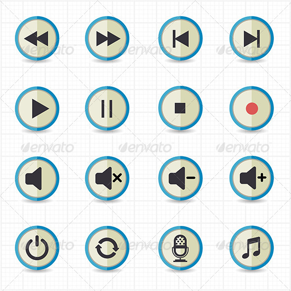 GraphicRiver Media Player Icons 7612765