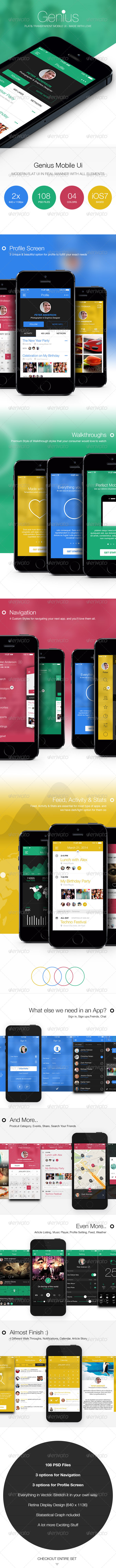 GraphicRiver Genius Flat & Transparent Mobile Ui 7576159