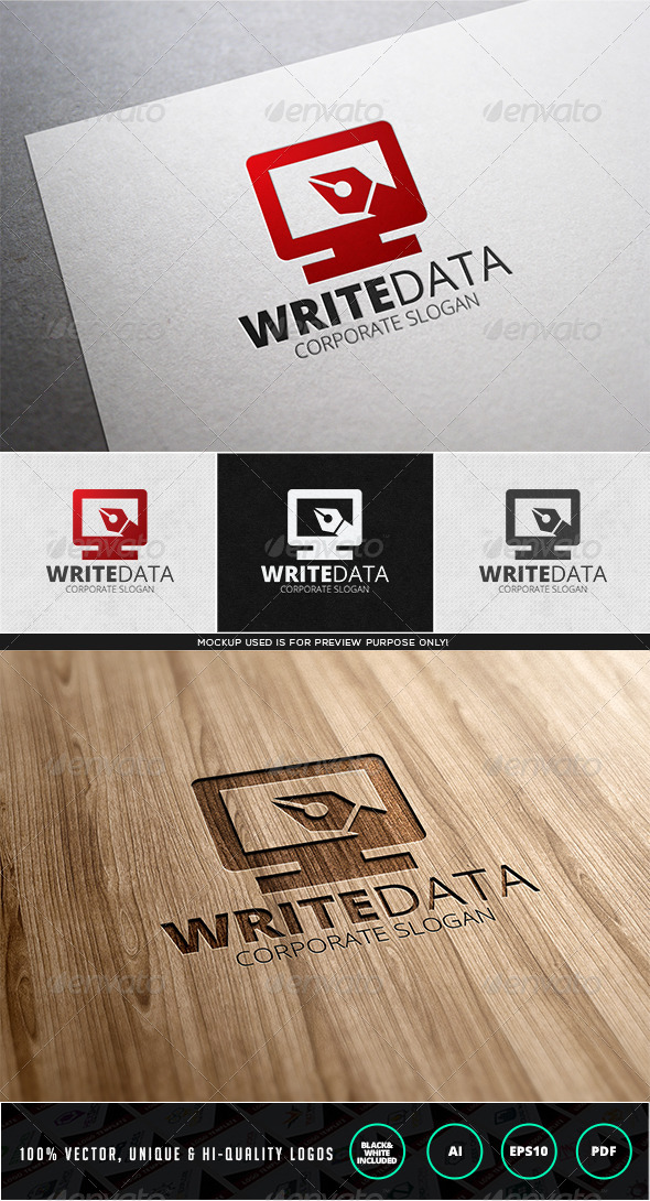 GraphicRiver Write Data Logo Template 7613262