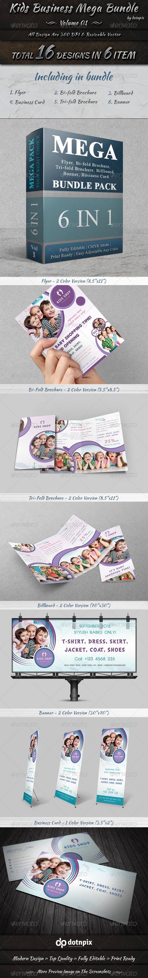 GraphicRiver Kids Business Mega Bundle Volume 1 7598593