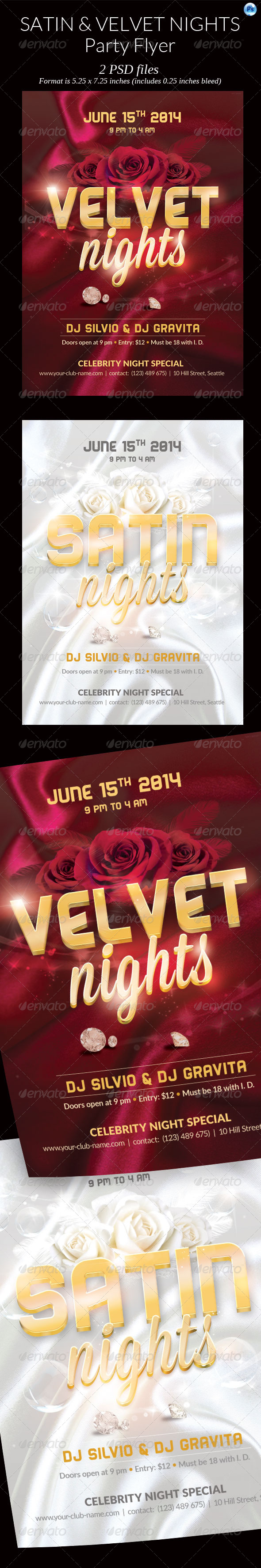 GraphicRiver Satin Velvet Night Party Flyer 7613736