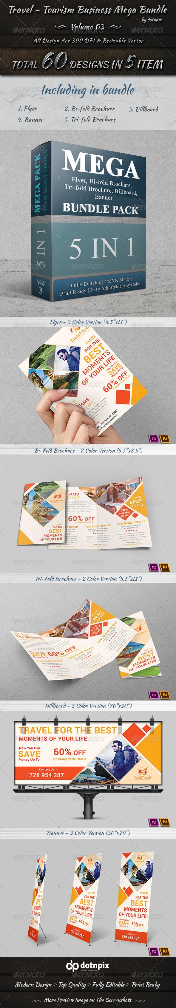 GraphicRiver Travel Tourism Business Mega Bundle Volume 3 7600387