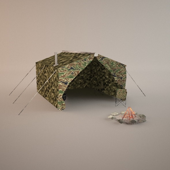3DOcean Lowpoly Hunting Tent 7613790