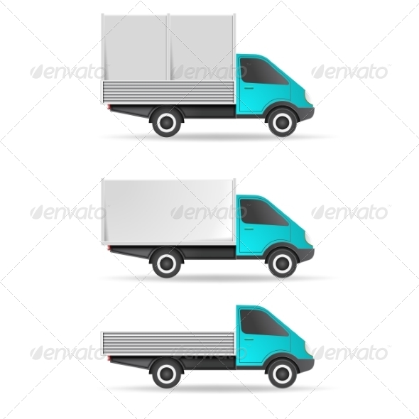 GraphicRiver Cargo Truck Pickup and Tent 7613904