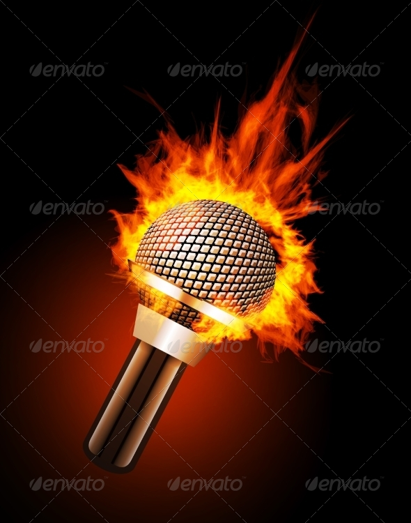GraphicRiver Microphone in Fire 7614007