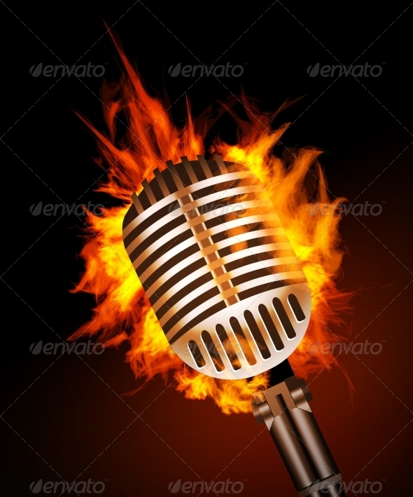 GraphicRiver Microphone in Fire 7614010