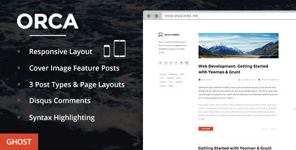 ThemeForest Orca Responsive Ghost Theme 7614135