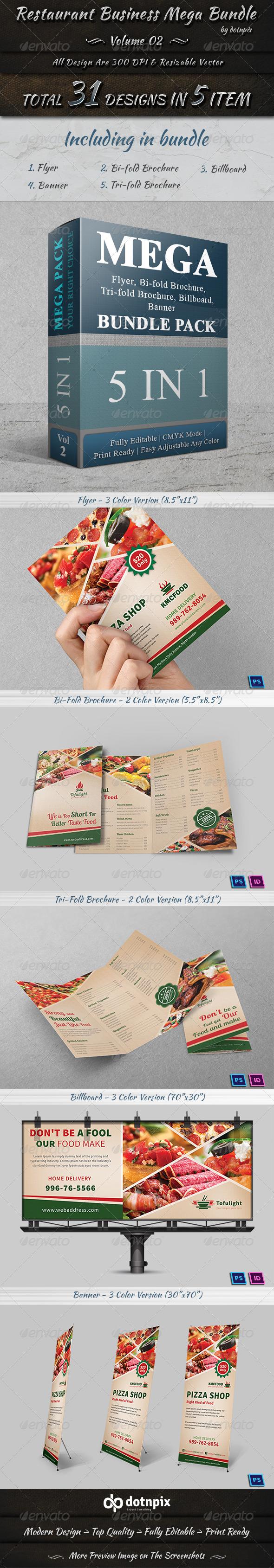 GraphicRiver Restaurant Business Mega Bundle Volume 2 7614158