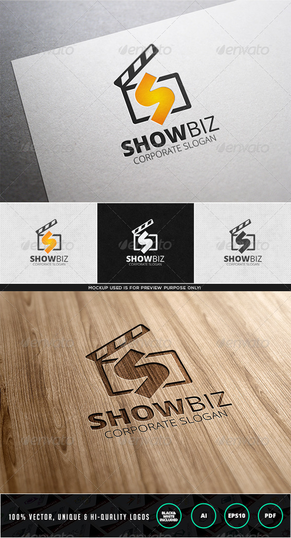 Showbiz Logo Template - Letters Logo Templates