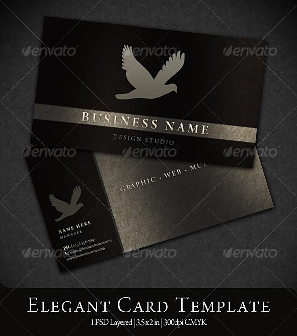 Elegant business card graphicriver for Elegant business cards templates