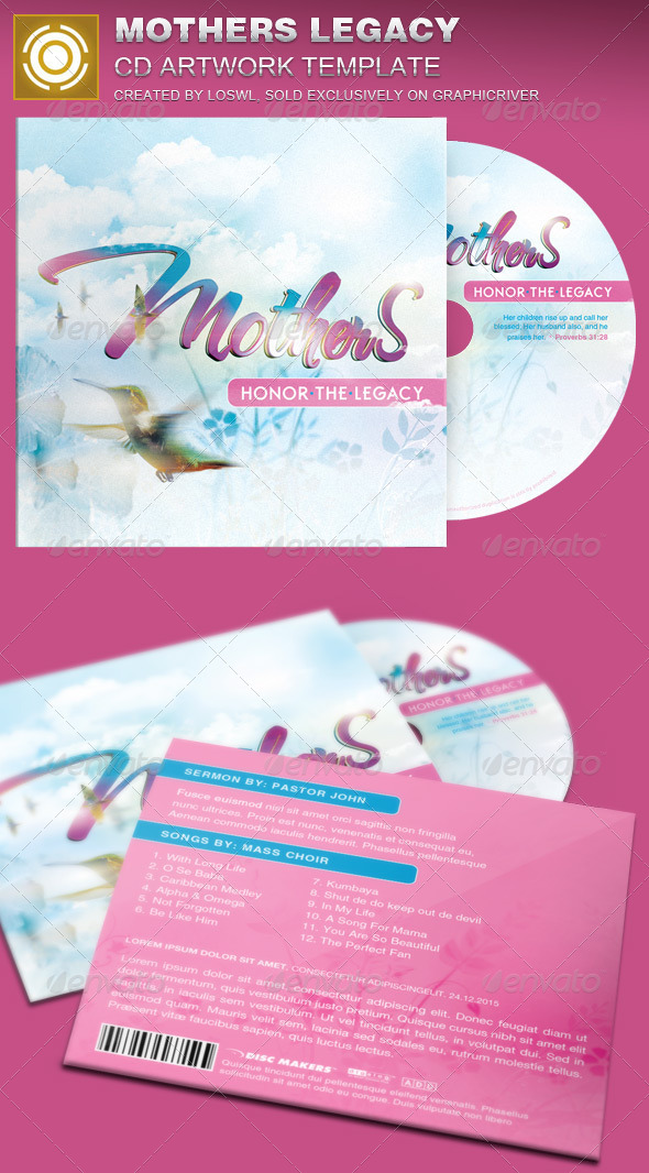 GraphicRiver Mothers Legacy CD Artwork Template 7614257