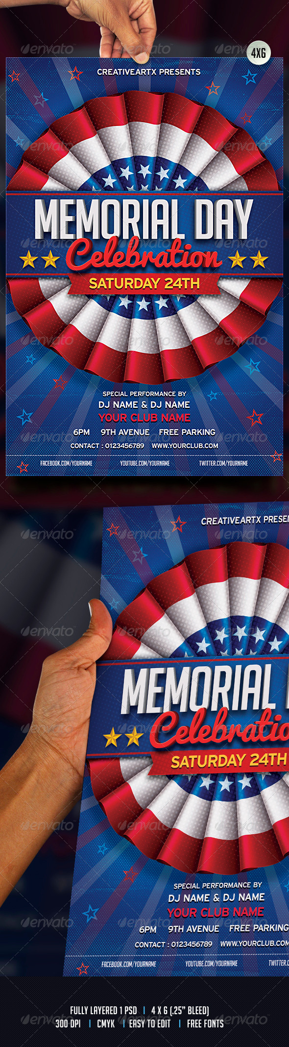 GraphicRiver Memorial Day 7614271