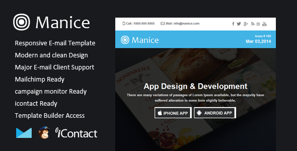 Manice - Responsive Email + Themebuilder Access