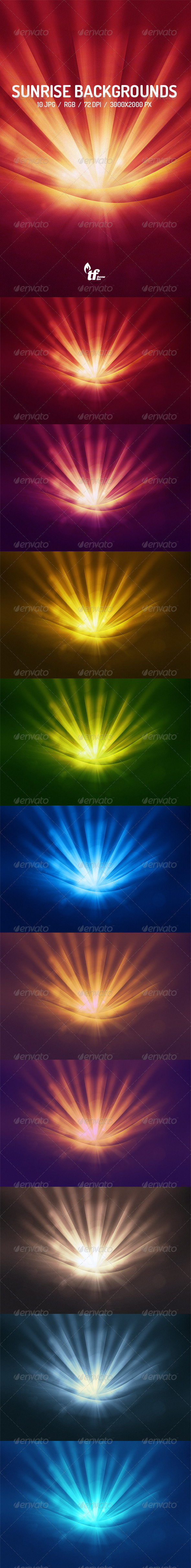 GraphicRiver Sunrise Backgrounds 7614878
