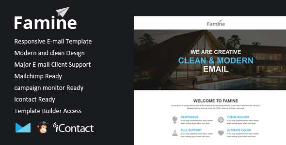Famine - Responsive Email + Themebuilder Access - Email Templates Marketing